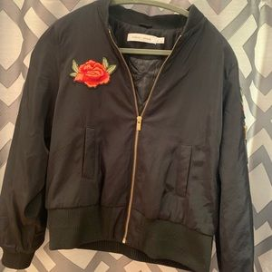 Bishop + Young Black Bomber Jacket